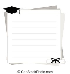 graduación, plano de fondo, vector