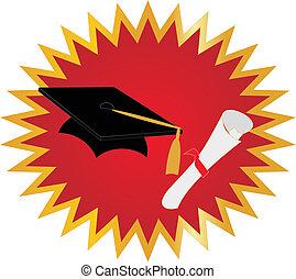 graduación, sello