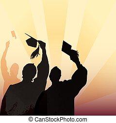 graduación, silueta