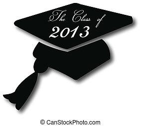 graduación, sombrero, 2013