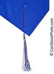 graduación, sombrero, y, borla