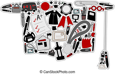 graduado, ícones