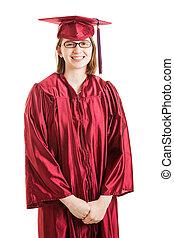 graduado, alto, retrato, orgulhoso, escola