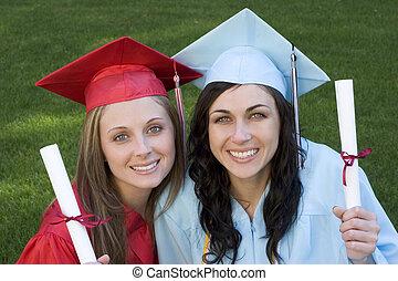 graduado, amigos