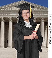 graduado, blanco