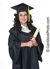 graduado, branco