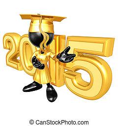 graduado, con, el año