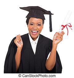 graduado, estudante, americano africano