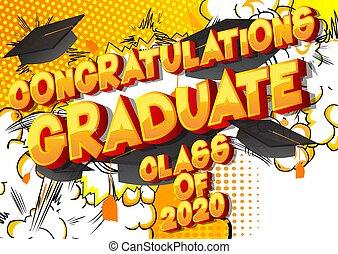 graduado, felicitaciones, clase, 2020.