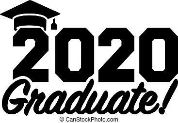 graduado, graduación, 2020