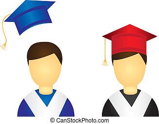 graduado, iconos