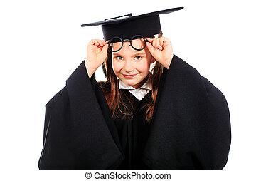 graduado, menina