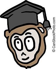 graduado, mono