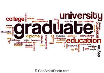 graduado, palavra, nuvem