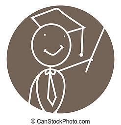 graduado, vector