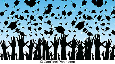 graduados, paisaje, versión