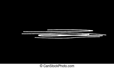 Gradual appearance of drawn lines on black background HD