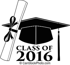 Graduate - Class of 2016 is an illustration of a design that...