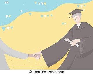 Graduate Congratulate Buntings Illustration