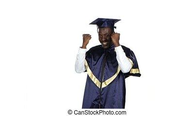 Graduate dancing. White