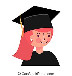 graduate girl portrait in graduation hat