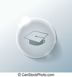 graduate hat. Education sign