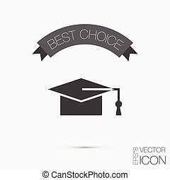 graduate hat. Education sign. symbol icon college or institute. graduation