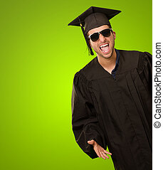 Graduate Man Shouting