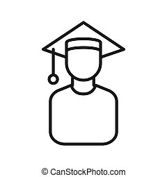 graduate scholar illustration design