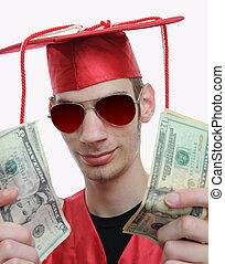 Graduate Showing Off Money - Highschool, university, or...