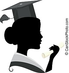 Graduate Silhouette - Illustration Featuring the Silhouette...