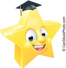 Graduate Star Emoji Emoticon
