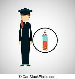 graduate student girl chemistry design