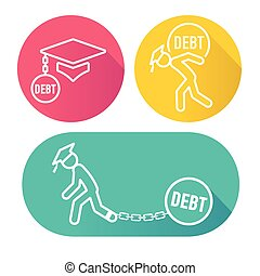 Graduate Student Loan Icons