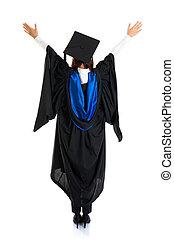 Graduate student rear view