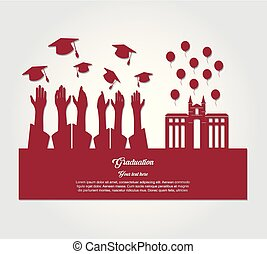graduate students silhouette characters