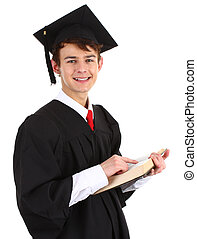 Graduate with a book