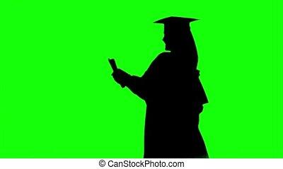 Graduate with a diploma. Graduation at the university. Alpha...