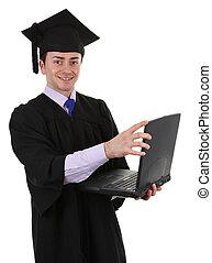 Graduate with laptop