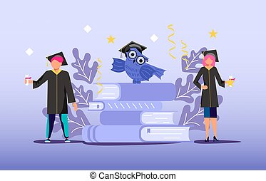 Graduated concept 2020 year