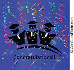 Graduates congratulations vector design