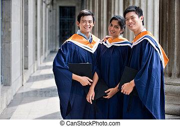 Graduates In Hallway