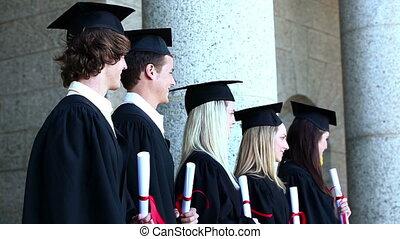 Graduates in line
