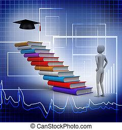 graduati, boekjes , 3d, afstuderen