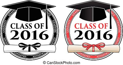Graduating Class of 2016 is a design in black and white and...