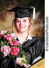 graduation 07 - Beautiful young woman portrait for her...