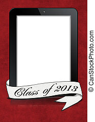 graduation 2013 banner on tablet