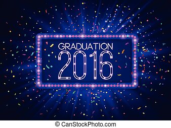 Graduation 2016 class of, luxury design for the graduation party poster, flyer