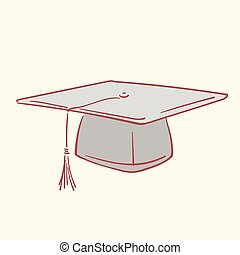 Graduation academic caphand drawn style vector doodle design illustrations