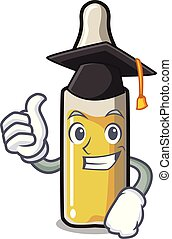 Graduation ampoule character cartoon style vector...